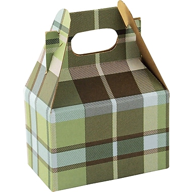 Shamrock Gable Box - 4in., Kensington Plaid