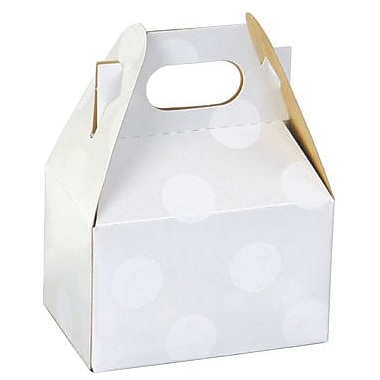 Shamrock Gable Box - 4in., Polka Dot Pearl