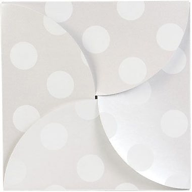 Shamrock 6in.W x 6in.L Dots Gift Boxes, Gray/Silver, 100/Pack