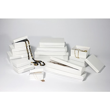 Boxit White Krome Jewel Box, 3 1/16in. x 2 1/8in. x 1''