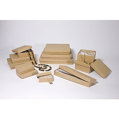 Boxit Brown Kraft Jewel Box, 3 1/2in. x 3 1/2in. x 1 1/2in.