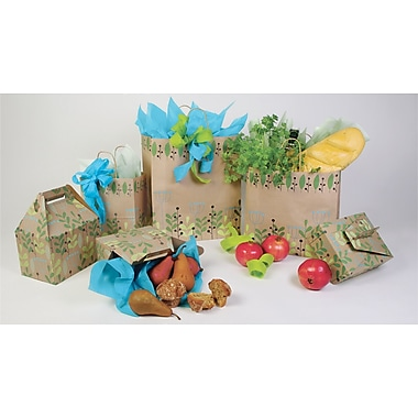 Shamrock Bistro 2 Go 8in. x 4 7/8in. x 10.5in. Shopping Bag, Leaves and Berries