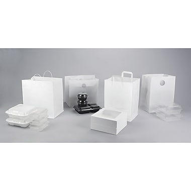 Shamrock 12in. x 10in. x 16in. White High Density Pinch-Bottom Folded Loop Bag