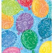 Shamrock Balloons Galore Gift Wrap, Half Ream Roll