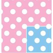 Shamrock Baby Dots Reversible Gift Wrap, Half Ream Roll