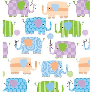 Shamrock Baby Elephants Gift Wrap, Half Ream Roll