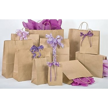 Bonita Kraft Paper 13.63in.H x 8in.W x 4.75in.D Shopping Bags, Brown, 250/Case