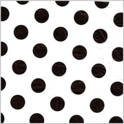 Shamrock Printed Tissue, Polka Dot Black