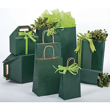 Bonita A La Carte 8in. x 4.75in. x 10.5in. Shopping Bag, Forest Green