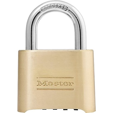 Master Lock Resettable Combination Padlock, Brass