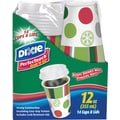Dixie PerfecTouch Grab'N Go Paper Hot Cups & Lids, Holiday Design 14/Pack