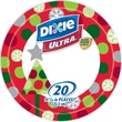 Dixie Ultra 10 1/16in. Paper Plates, Holiday Design, 20/Pack