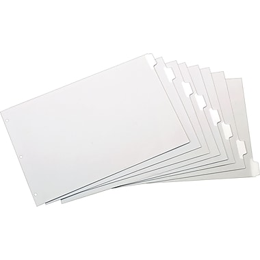 Cardinal® Erasable Dividers, White, 8-Tab