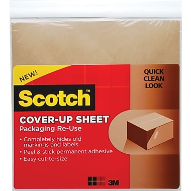Scotch Cover-Up Sheets, 12in.x 12in. Brown, 6/Pack