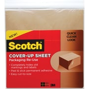 Scotch™ Cover-Up Sheets, 12x 12 Brown, 6/Pack
