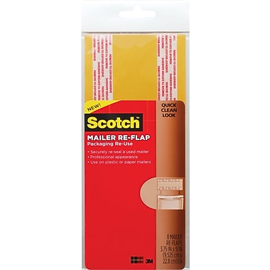 Scotch™ Mailer Re-Flaps, Manila, 3 3/4