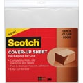 Scotch Cover-Up Sheets, 12in.x12in., White, 6/Pack