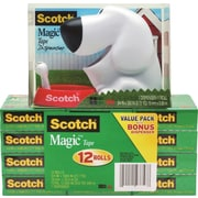Scotch® Dog Tape Dispenser Free with 12 Rolls of Magic™ Tape