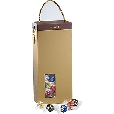 Lindt LINDOR Chocolate Truffles Gold Gift Box, 100 Truffles/Box