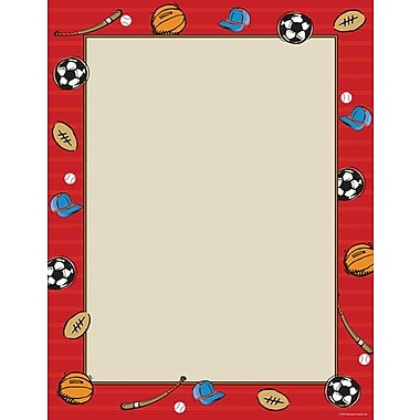 Great Papers® Red Sports Letterhead, 100/Pack