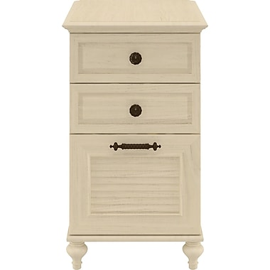 kathy ireland by Bush® Volcano Dusk 3-Drawer File, Driftwood Dreams