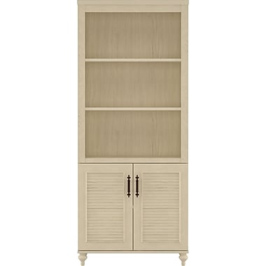 kathy ireland by Bush Volcano Dusk Bookcase with Doors, Driftwood Dreams
