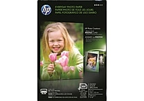 HP Everyday Photo Paper, 4'x6', Glossy, 100/Pack