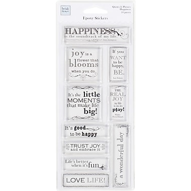 Heidi Grace Happiness Epoxy Sticker Quotes