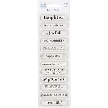 Heidi Grace Fun Words Epoxy Stickers