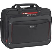 SOLO Sterling 16 Briefcase, Black/Red