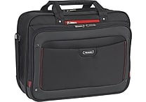 SOLO Sterling 16in Briefcase, Black/Red