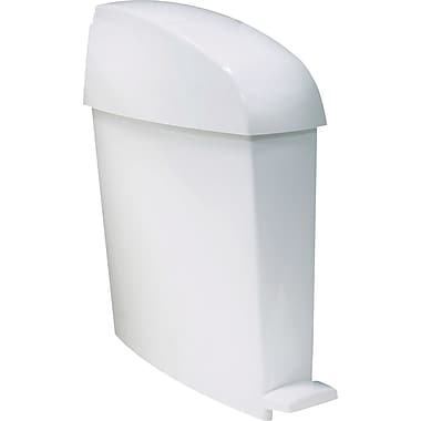 Rubbermaid Commercial Sanitary Bin, White, 3-Gallon Capacity