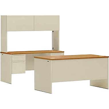 HON 38000 Series Office Suite w/ Hutch, Harvest/Putty