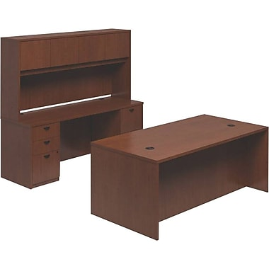 basyx by HON BL Series Workstation/Office Desk, Medium Cherry