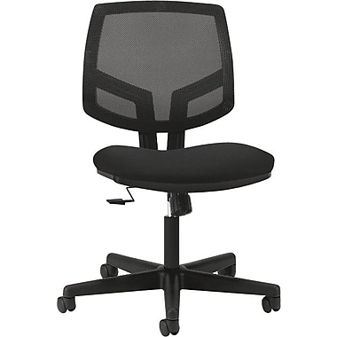 HON Volt Series Armless Task Chair, Mesh Back, Black