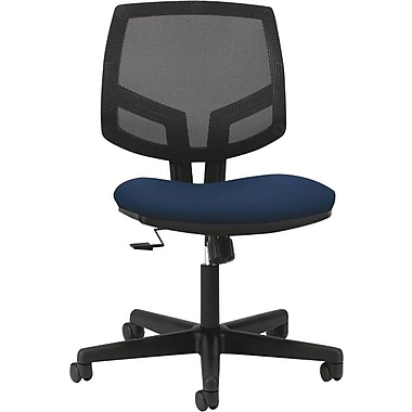 HON Volt Series Armless Task Chair, Mesh Back, Navy