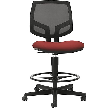 HON Volt Series Task Stool, Mesh Back, Pneumatic, Adjustable Height Footring, Crimson