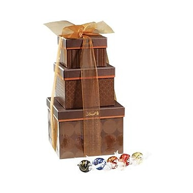 Lindt LINDOR Chocolate Truffles Gift Tower, 120 Truffles/Box