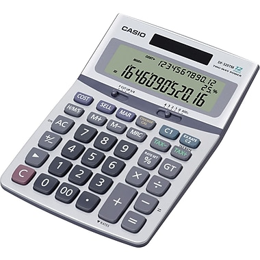 Casio® DF320TM 12 Digit, 3-Line Profit Margin Desktop Calculator