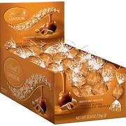 Lindt LINDOR Chocolate Truffles, Milk Chocolate & Peanut Butter, 60 Truffles/Box