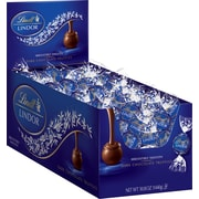 Lindt LINDOR Chocolate Truffles, Dark Chocolate, 120 Truffles/Box