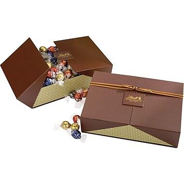 Lindt LINDOR Chocolate Truffles Celebration Gift Box, Assorted, 120 Truffles/Box