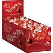 Lindt LINDOR Chocolate Truffles, Milk Chocolate, 120 Truffles/Box