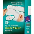 Avery® Index Maker Clear Label Presentation Dividers, 8 Tab, White, 1 Set/ Pack