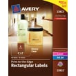 Avery® 22822 Print-to-the-Edge Clear Rectangular Labels, Glossy, 2in. x 3in., 80/Pack