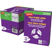 "Staples FSC-Certified Bright White Laser Paper, 28 lb., 8-1/2"" x 11"""