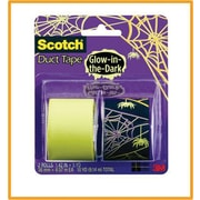 Scotch® Brand Duct Tape, Spider Web/ Glow in the Dark, 2/Pack , 1.42 x 5 Yards