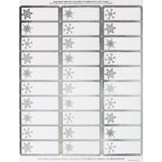 Great Papers­­® Silver Snowflakes Foil Address Labels, 2.625 x 1