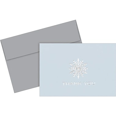 Petite  Snowflake Foil Thank You Notes