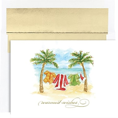 Great Papers® Holiday Cards Beach Break Holiday Collection, 18/Count